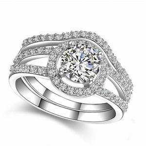 15 ct wedding band ring set sona synthetic diamond With synthetic diamond wedding rings