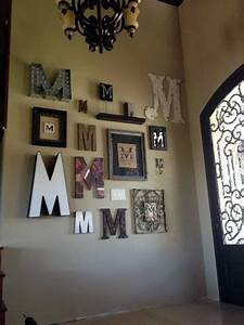 best 25 monogram wall ideas on pinterest wall initials With wooden letters wall decor ideas