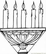 Coloring Candle Stick Printable Decorations Activities Coloringpages101 Ii sketch template