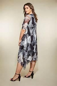 Bon Price Mode : yours london robe grise noire en tulle grande taille 44 64 ~ Eleganceandgraceweddings.com Haus und Dekorationen