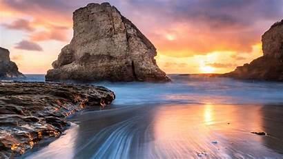 8k 4k Beach Shark Tooth Wallpapers Sunset
