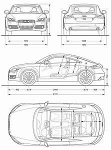 2008 Audi Tt 8j Coupe Blueprints Free