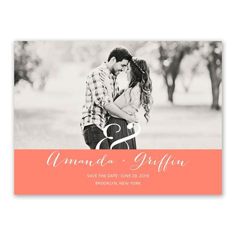 modern style save  date card invitations  dawn