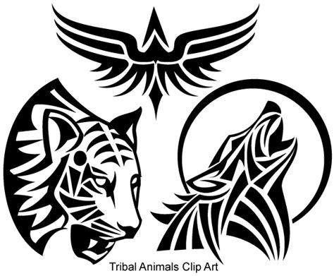 free vector design free tribal animals vector 123freevectors