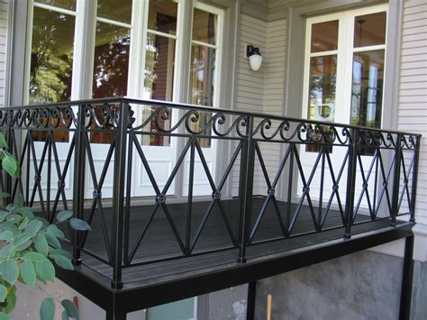 Modern Balcony Railing Design For Exterior Balcony With Dark Floor Antiquesl.com