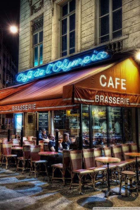 cafe paris france ultra hd desktop background wallpaper