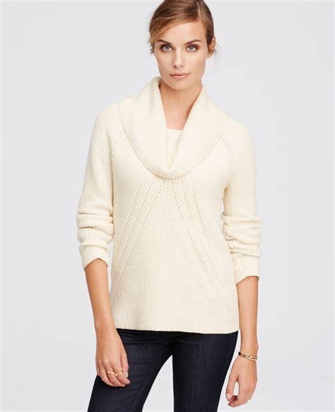 white cowl neck sweater cowl neck sweater in white lyst