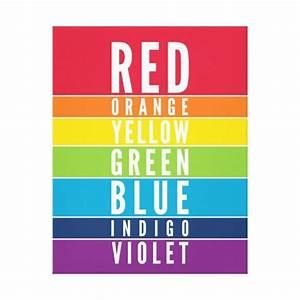BOLD EDUCATIONAL CLASSROOM rainbow color art chart Canvas ...
