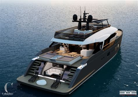 Expensive Flats Boats by Columbus Yachts Believes In Freedom Yellow Finch