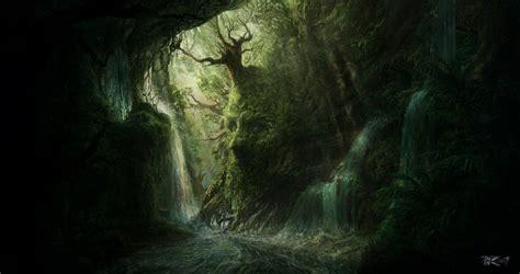 Artwork fantasy magical art forest tree landscape nature ...