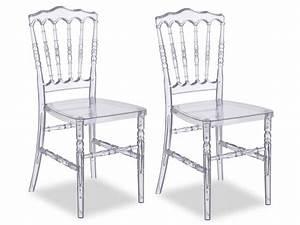 But Chaise Transparente : lot de chaises vicomte polycarbonate transparent ~ Teatrodelosmanantiales.com Idées de Décoration