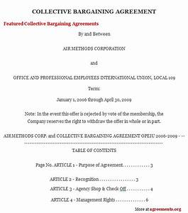 Collective Bargaining Agreements Us Department Of | Autos Post