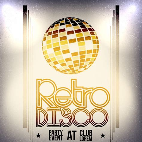 retro disco poster vector