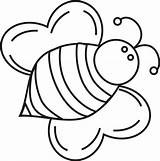Bee Coloring Pages Bumble Printable Template Sheets Colouring Bees Cartoon Clipart Clip Honey Print Drawing Cliparts Crafts Insect Sheet Printables sketch template