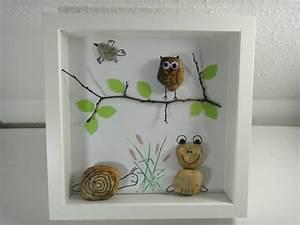 Bilder Mit Steinen : diy bild aus steinen eule frosch schnecke und vogel ~ Michelbontemps.com Haus und Dekorationen