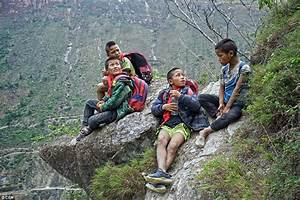 Children from remote Chinese village have to climb 17 ...