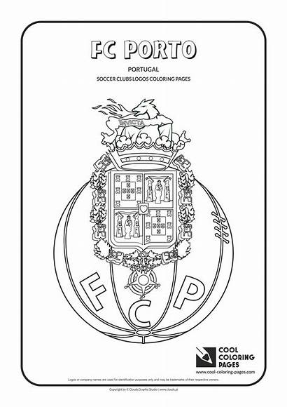 Coloring Pages Cool Soccer Porto Fc Logos