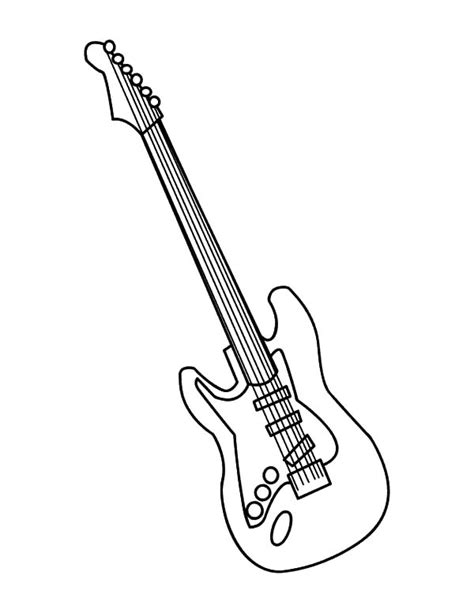electric guitar pages coloring pages