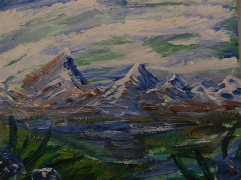 Mountain Scene Painting By Dennis Poyant