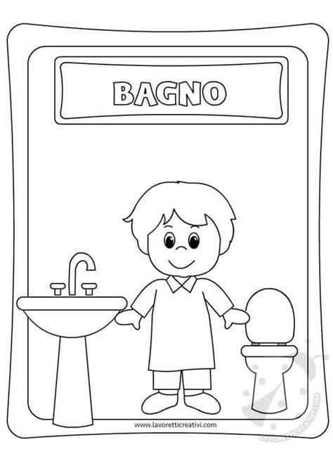 cartello bagno bambini lavoretti creativi