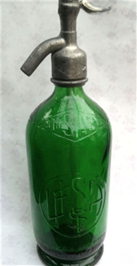 green relief vintage seltzer bottle the seltzer shop