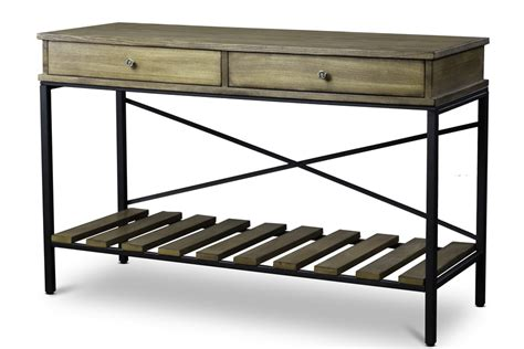 Baxton StudioNewcastle Wood and Metal Console Table Criss