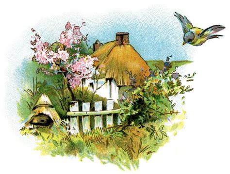 Cottage Clipart Small Country Cottage Clip Thatched Roof Cottage