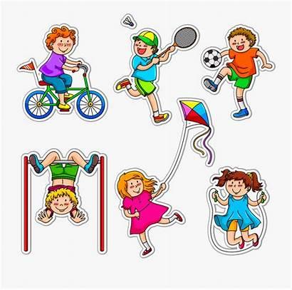 Clipart Lokomotor Kilos Exercising Physical Toddlers Exercise