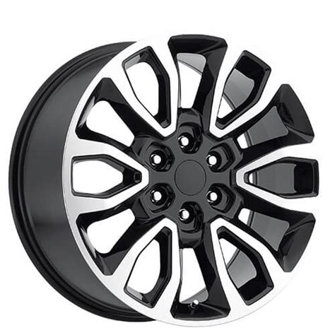 ford  raptor wheels black machined oem replica