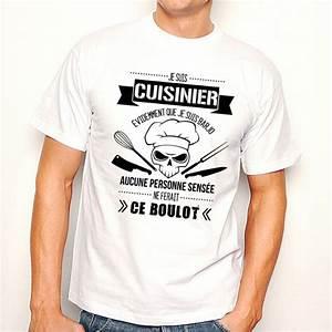 T Shirt Homme Blanc : t shirt homme blanc cuisinier barjo ketshooop t shirts anniversaires rigolos humour ~ Melissatoandfro.com Idées de Décoration