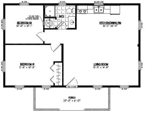 24 X 30 2 Story House Plans