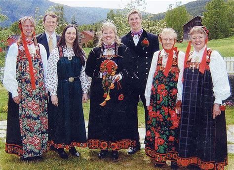 Norwegian Wedding. These Are Bunads Of The