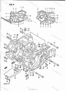 Suzuki Motorcycle 1990 Oem Parts Diagram For Crankcase