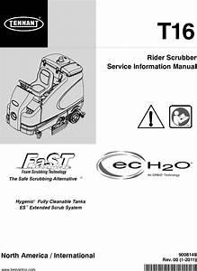 T16 Service Manual Tennant Rider Floor Scrubber