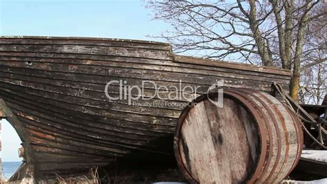 Old Wooden Boat Video by An Old Wrecked Wooden Boat Lizenzfreie Stock Videos Und Clips