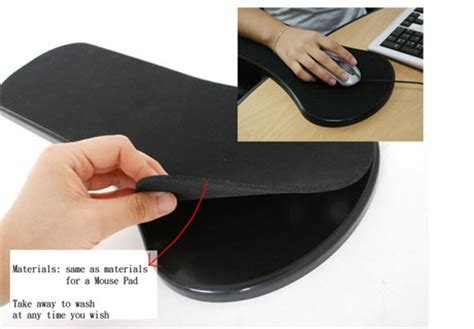 armrest mouse pad for chairs and tables ships through usb