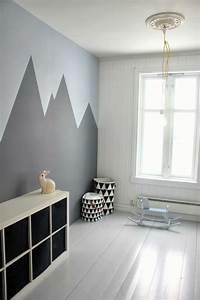 Geometric, Wall, Painting, Ideas, U2013, Weneedfun