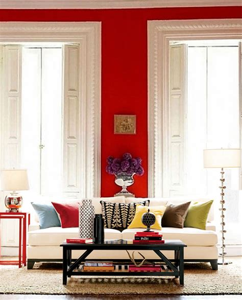 Red Wall Living Room 20 Inspiring Red Rooms Making It Lovely
