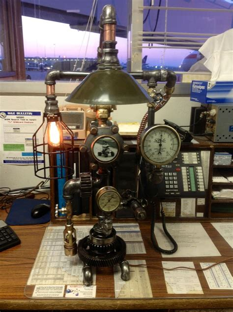 steampunk lamp  hand  projects diy