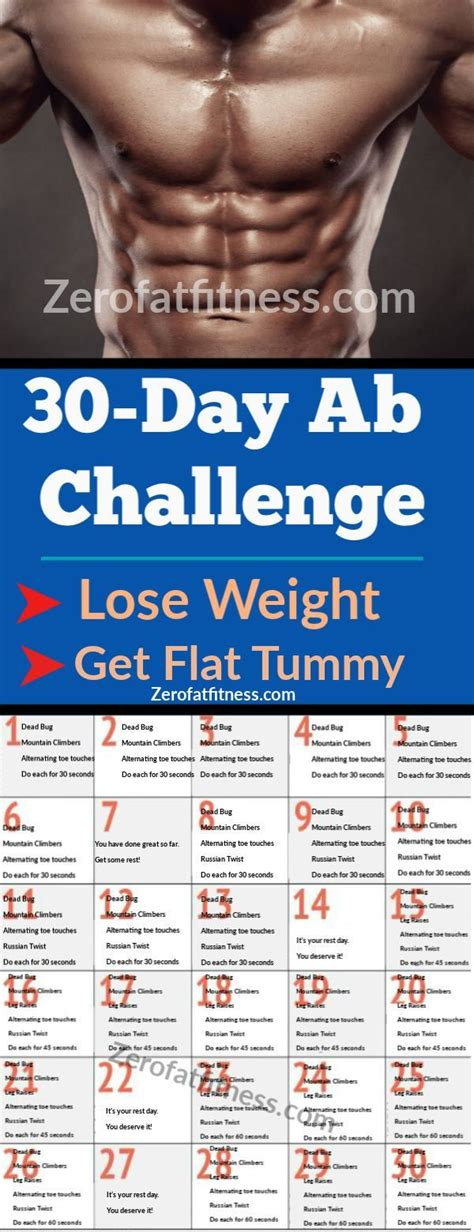 day ab workouts challenge   beginner  lose weight