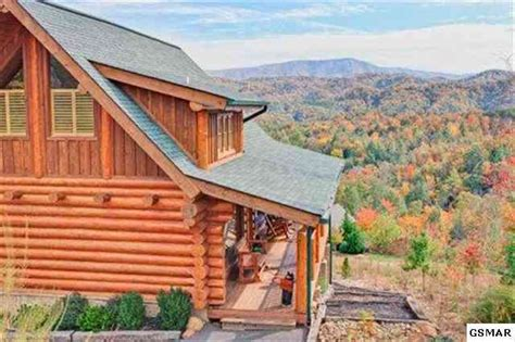 Large Log Cabin In Gatlinburg Area With Mountain Views