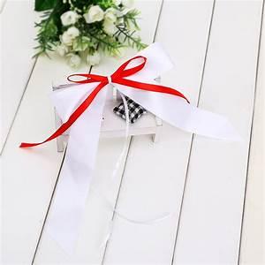 Noeud De Voiture Mariage : 10 noeud papillon ruban satin voiture salle mariage soir e blanc et rouge ebay ~ Dode.kayakingforconservation.com Idées de Décoration