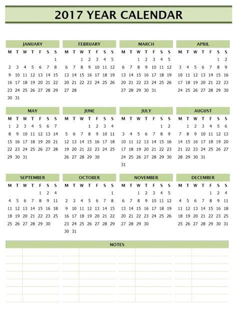 2017 calendar template word 2017 year calendar template
