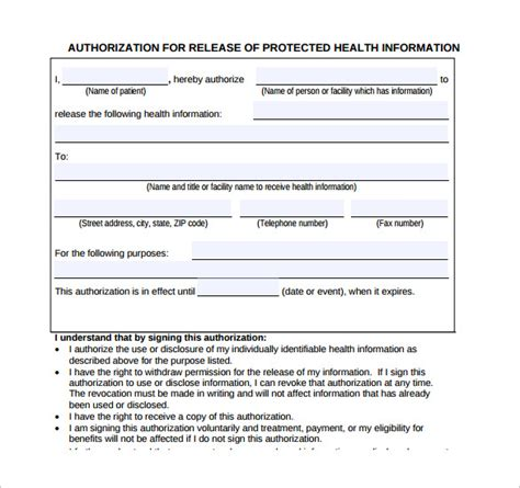 release of information form 11 generic record release forms free sles