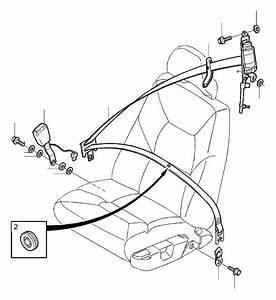2004 Volvo V70 Xc 2 5l 5 Cylinder Turbo Seat Belt
