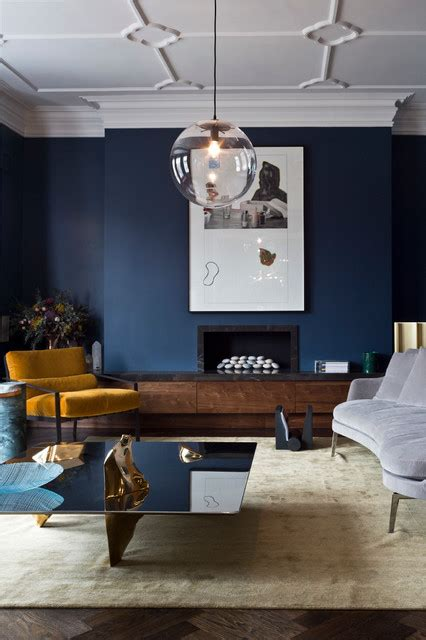 interior decor living rooms  moody blue interiors