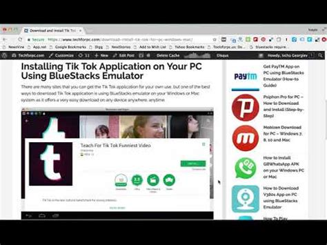 tik tok app for pc windows mac computer