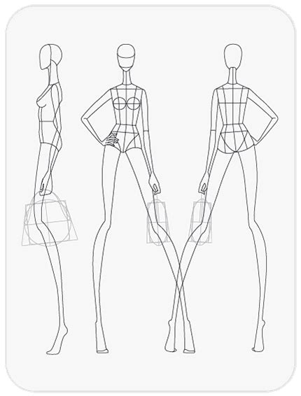 fashion figure templates pret  template art