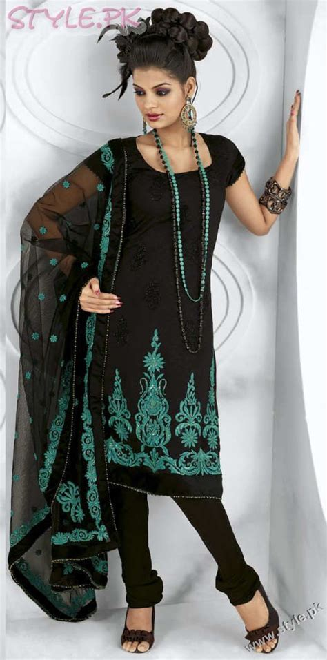 indian black dress fashion of shirts with trousers for dressing ideas