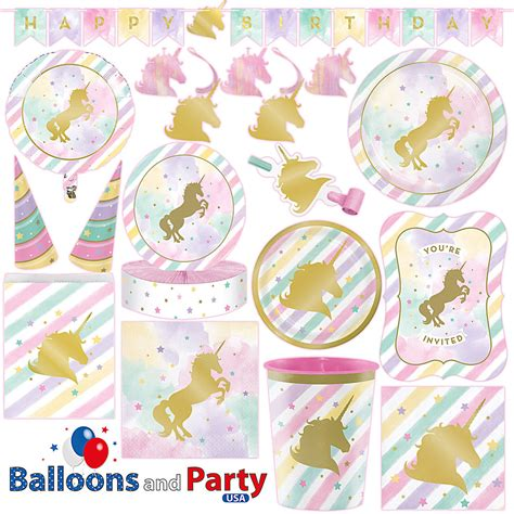 birthday party ideas for popsugar unicorn sparkle pony girl 39 s birthday party tableware